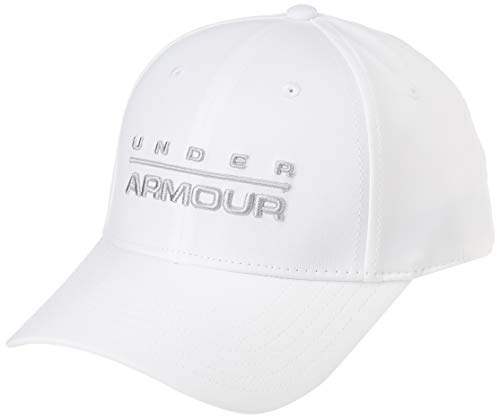 Under Armour Men's Wordmark Str Cap Gorra, Hombre, Blanco (White/Mod Gray 100), L/XL