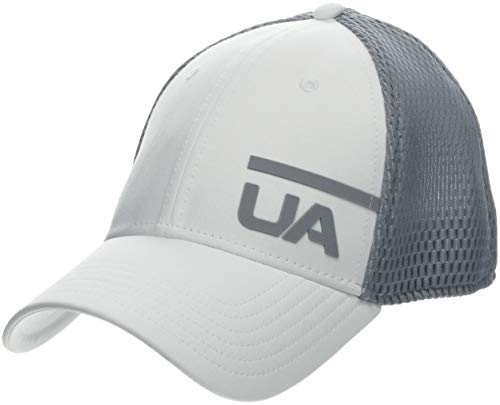 Under Armour Men's Train Spacer Mesh Cap Gorra, Hombre, Blanco (White/Steel/White 100), M/L
