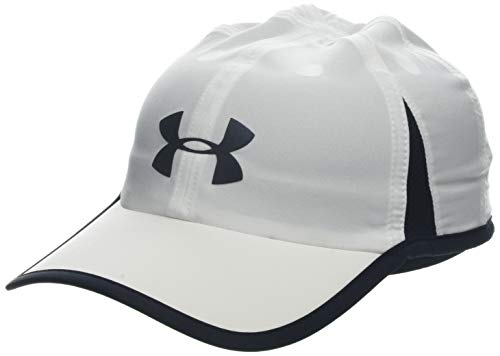 Under Armour Men's Shadow Cap 4.0 Gorra, Hombre, Blanco (White/Black/Reflective 100), Talla única