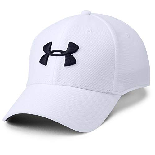 Under Armour Men's Blitzing 3.0 Cap Gorra, Hombre, Blanco (White/Steel/Black), S/M