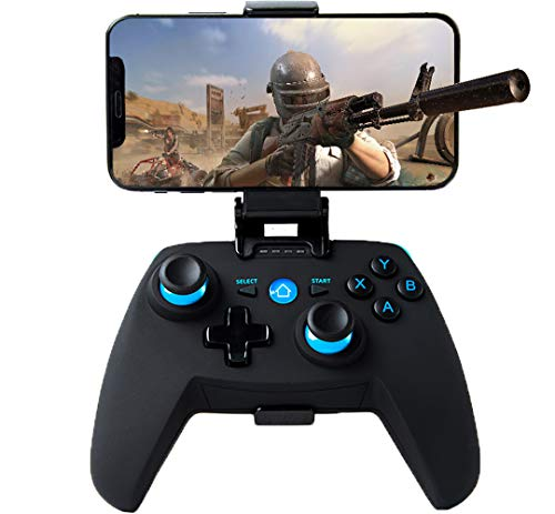 Maegoo Mando para Android/PC/PS3, Bluetooth Inalámbrico Android Móvil Mando con Soporte Retráctil, 2.4g Inalámbrico PC/PS3/TV Mando Gamepad con Doble Vibración