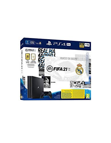 PlayStation 4 Pro (PS4) - Consola de 1 TB + FIFA 21, Edición Real Madrid