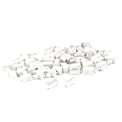 Sourcingmap - 50 pc panel de pcb interruptor unipolar momentáneo táctil 2 pines 6x3x5mm blanco