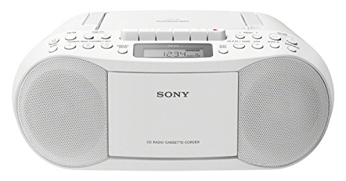 Sony CFD-S70, Boombox con CD, Casete y Radio, Blanco