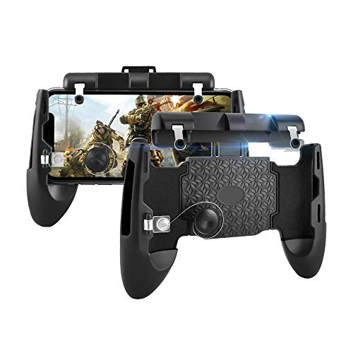 Newseego PUBG Mobile Game Controllers, 6 en 1 Teléfono Gamepad y los disparadores L1R1, Sensitive Shoot Aim Joysticks Physical Buttons para Android y iOS para Knives out/Rules of Survival/PUBG