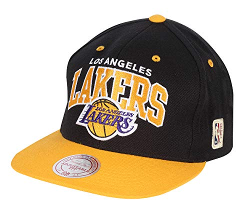 Mitchell & Ness Los Angeles Lakers HWC INTL226 2 Tone Team Arch Snapback Cap Kappe Basecap