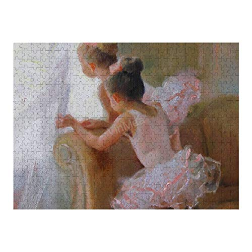 Jigsaw Puzzle, Puzzles For Adults and Kids 500 Pieces - Two-Tutus-Anna-Bain Home Decor & Game Art of Kids
