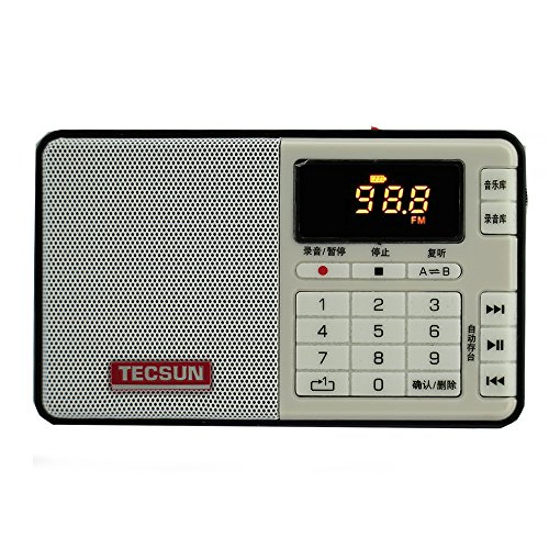 TECSUN Q3 FM Stereo Radio Recorder/MP3 Player Pocket Size (FM 76-108) (Black)