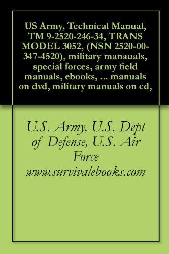 Technical Manual, TM 9-2520-246-34, TRANS MODEL 3052, (NSN 2520-00-347-4520) (English Edition)